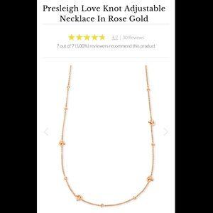 NEW 2020 Kendra Scott Love Knot Rose Gold chain